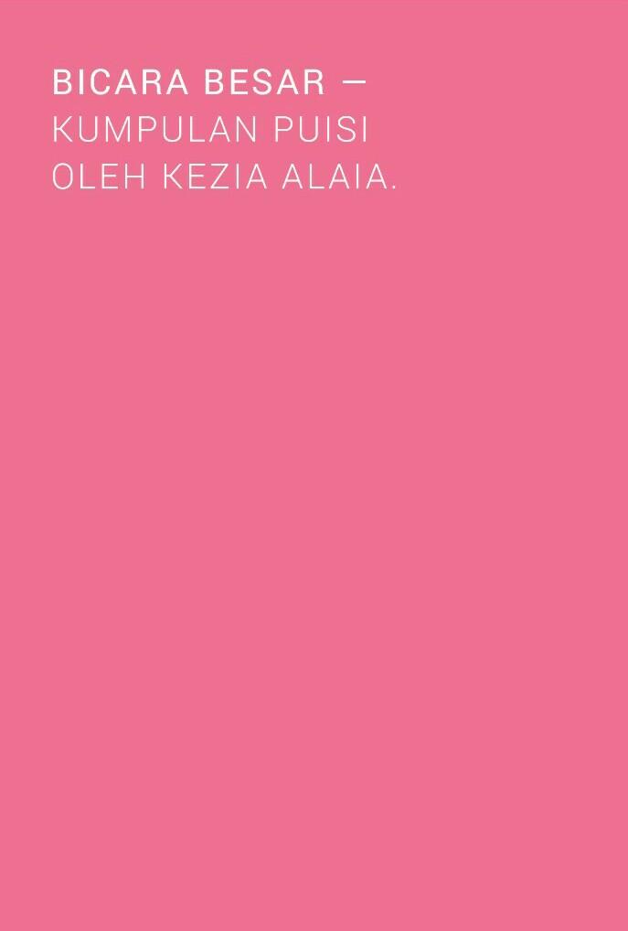 Buku Bicara Besar Kumpulan Puisi Kezia Alaia Indie Book Corner